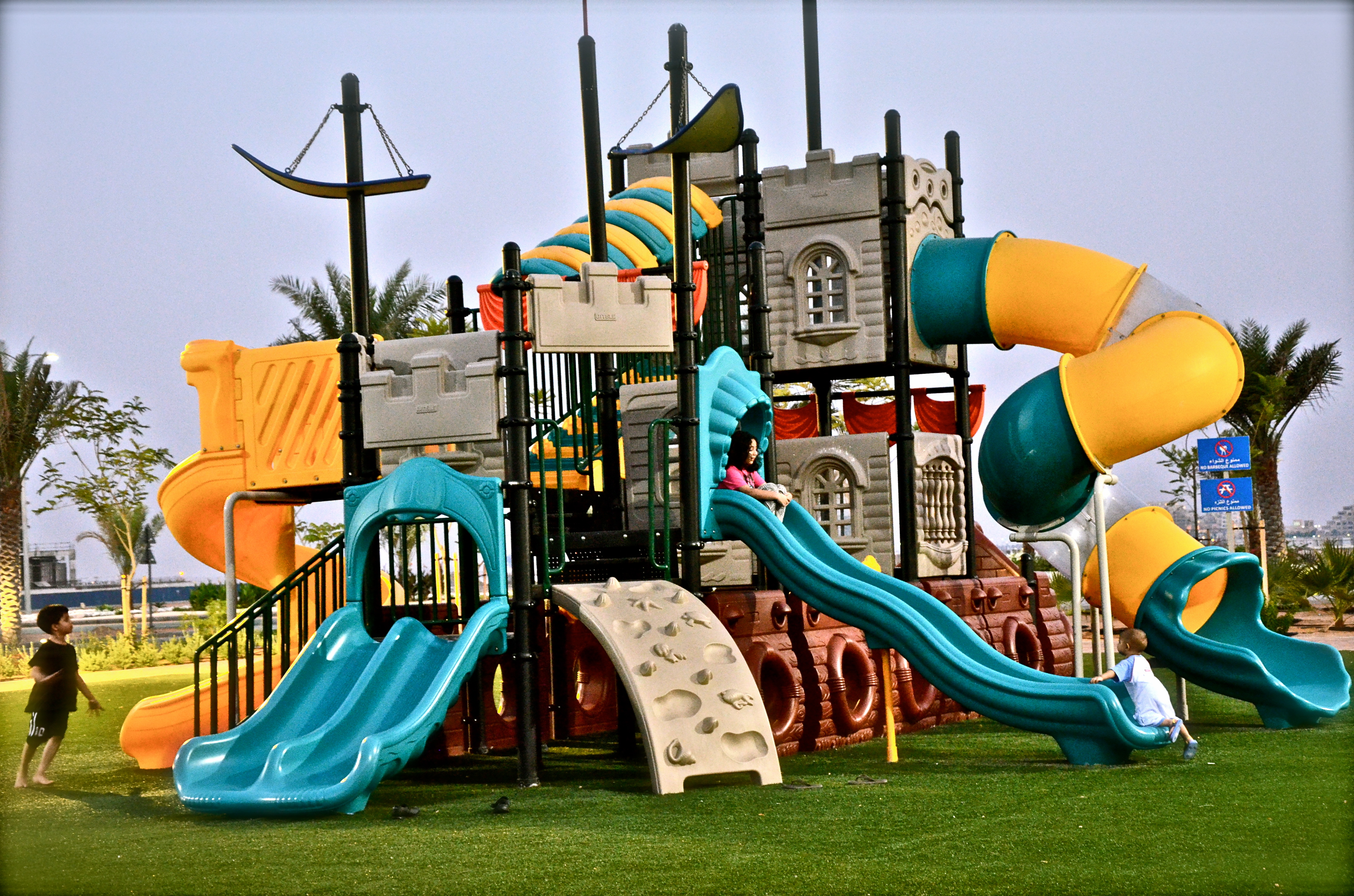 Outdoor Kids play area located inside Marjan resort