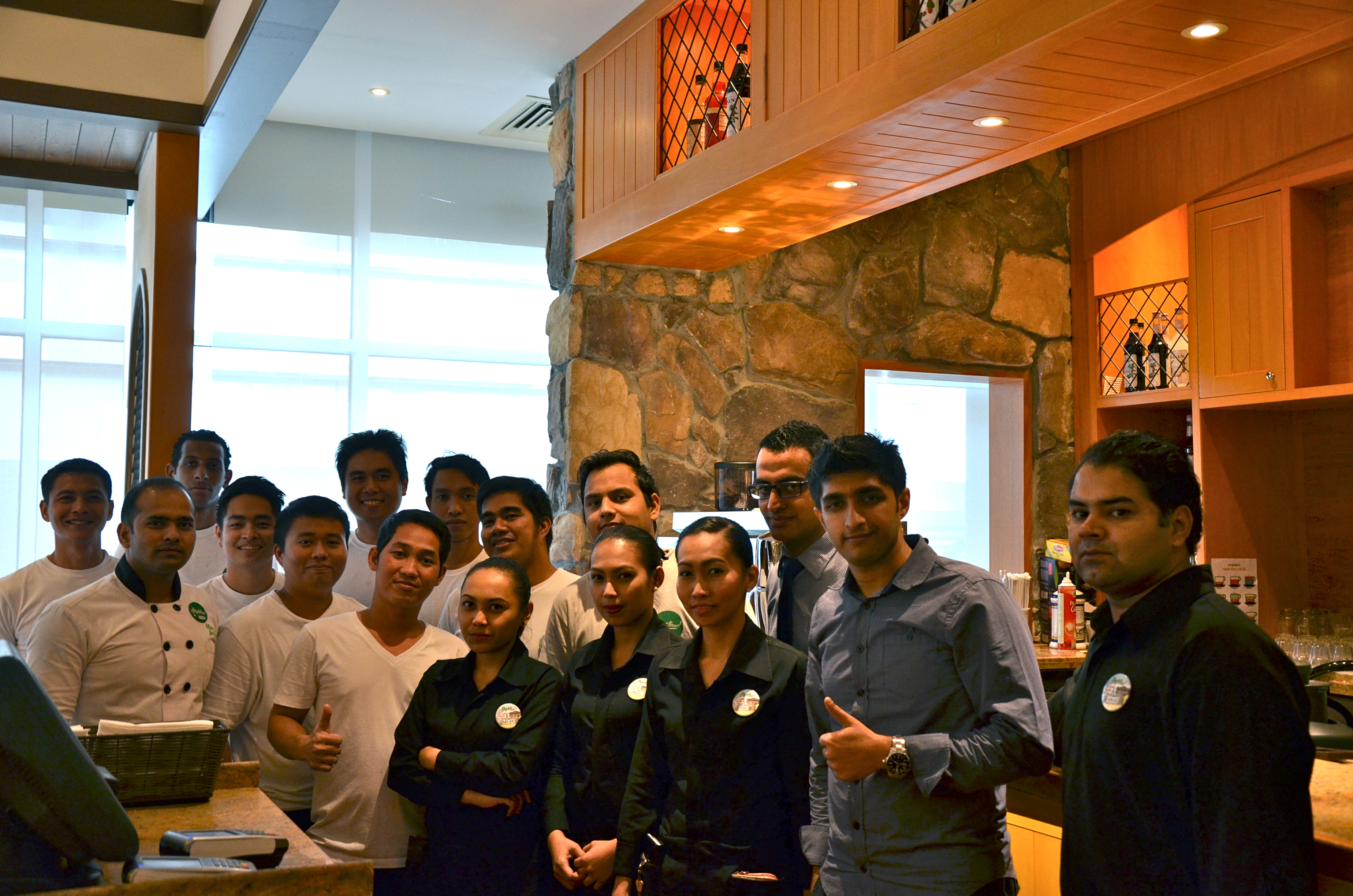 Me along with chefs and staff of Olive Garden | Dubaicravings.com