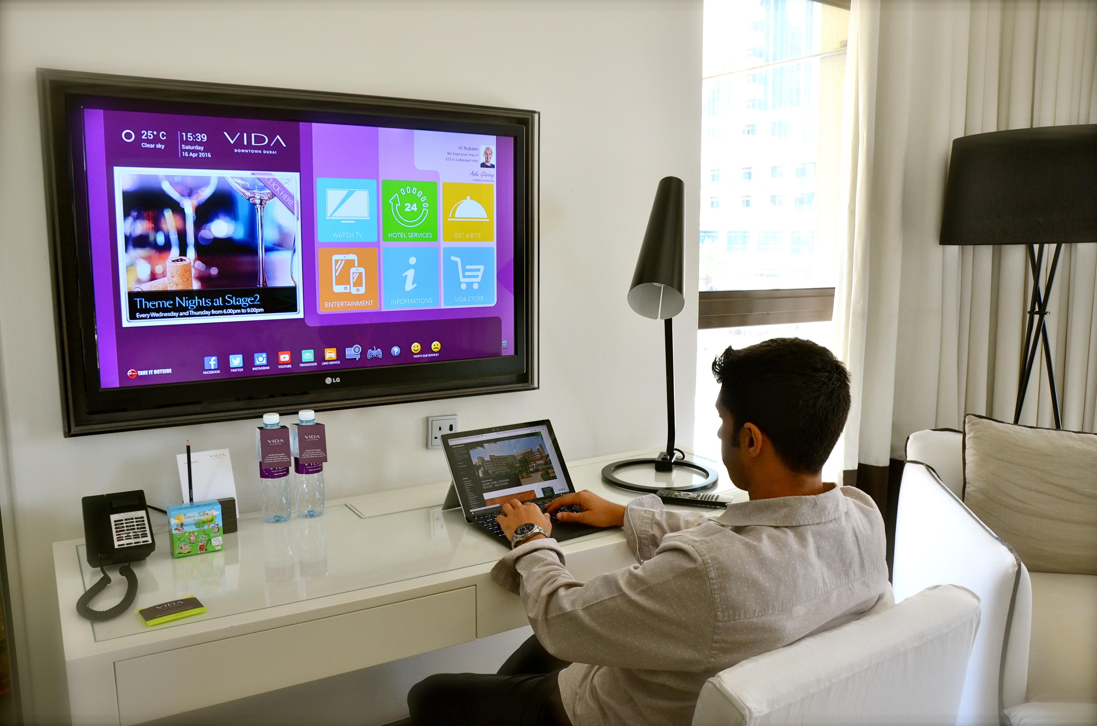 42-inch flat screen IPTV (Internet Protocol TV) – Dubaicravings com