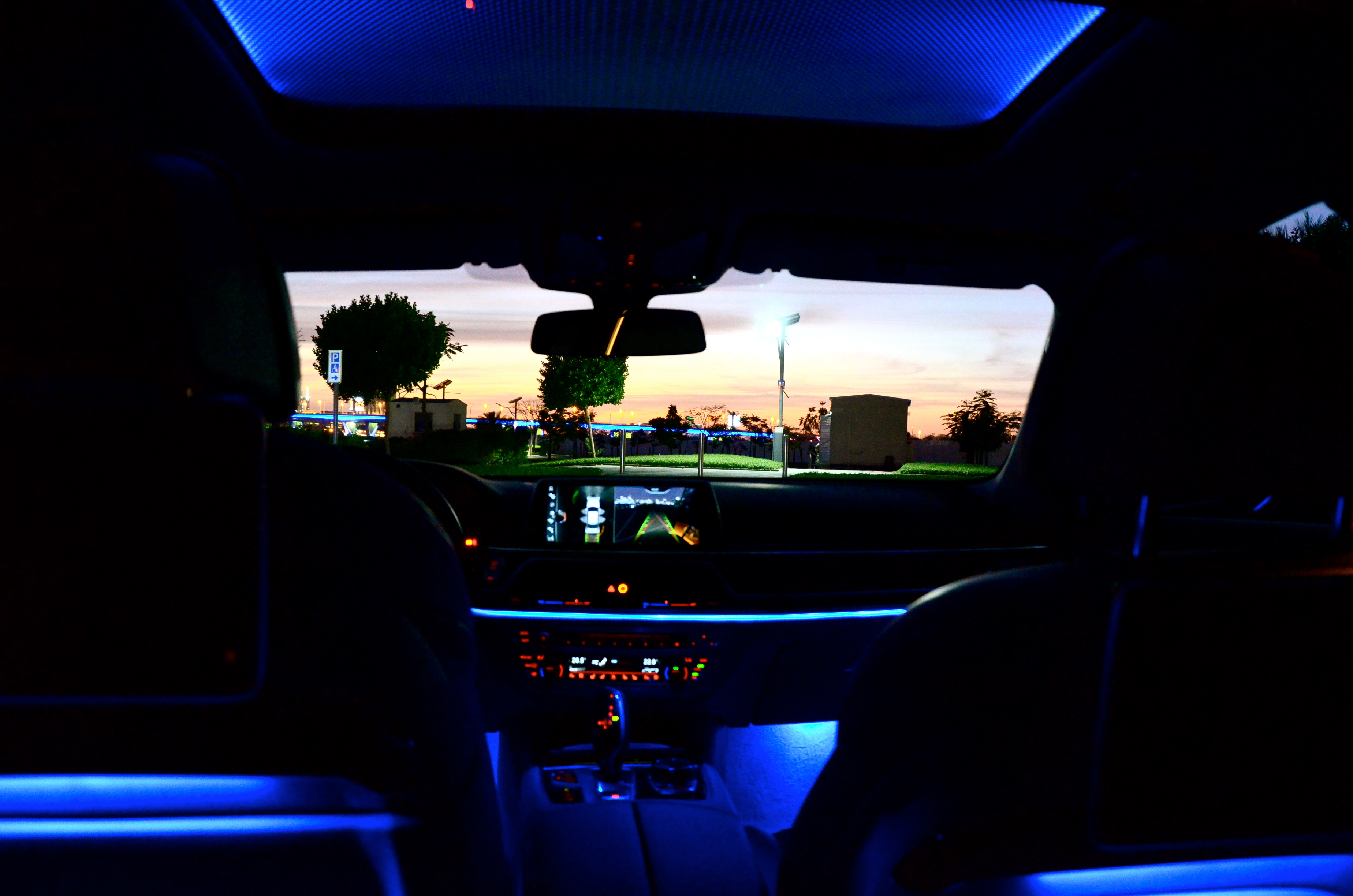 The Panorama Glass Roof Sky Lounge With Light Flooded Interior Inside BMW 750 Li 2016