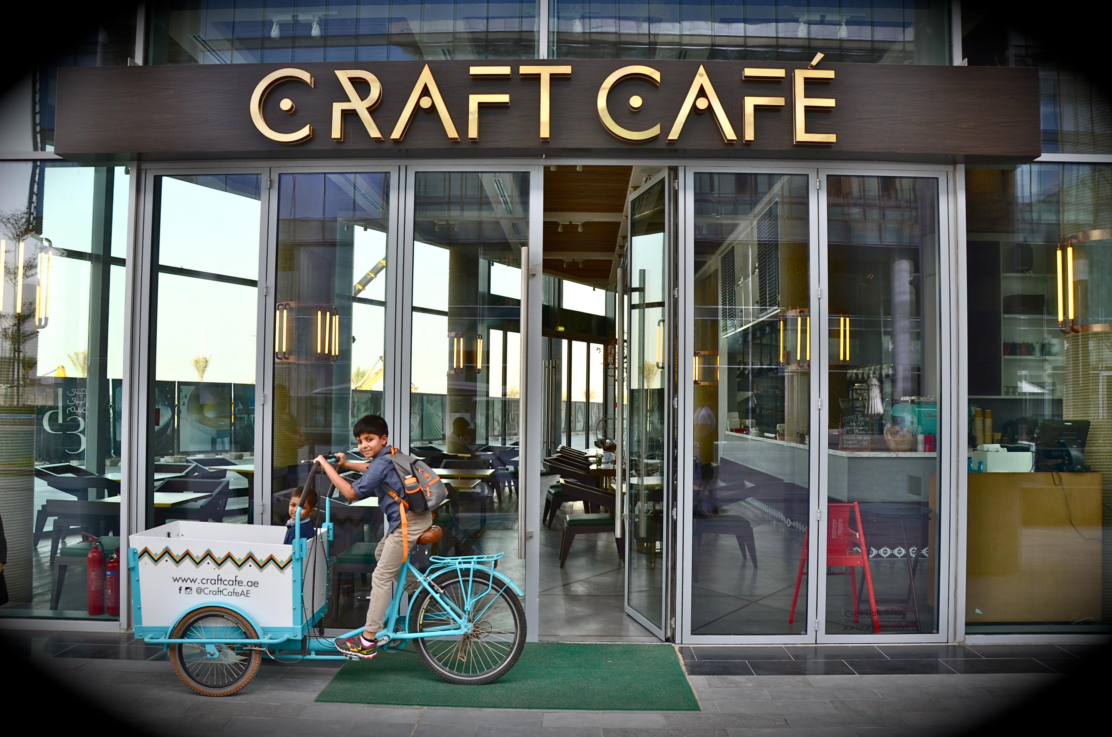 Entrance to craft cafe at dubai design district for Hotel dubai design district